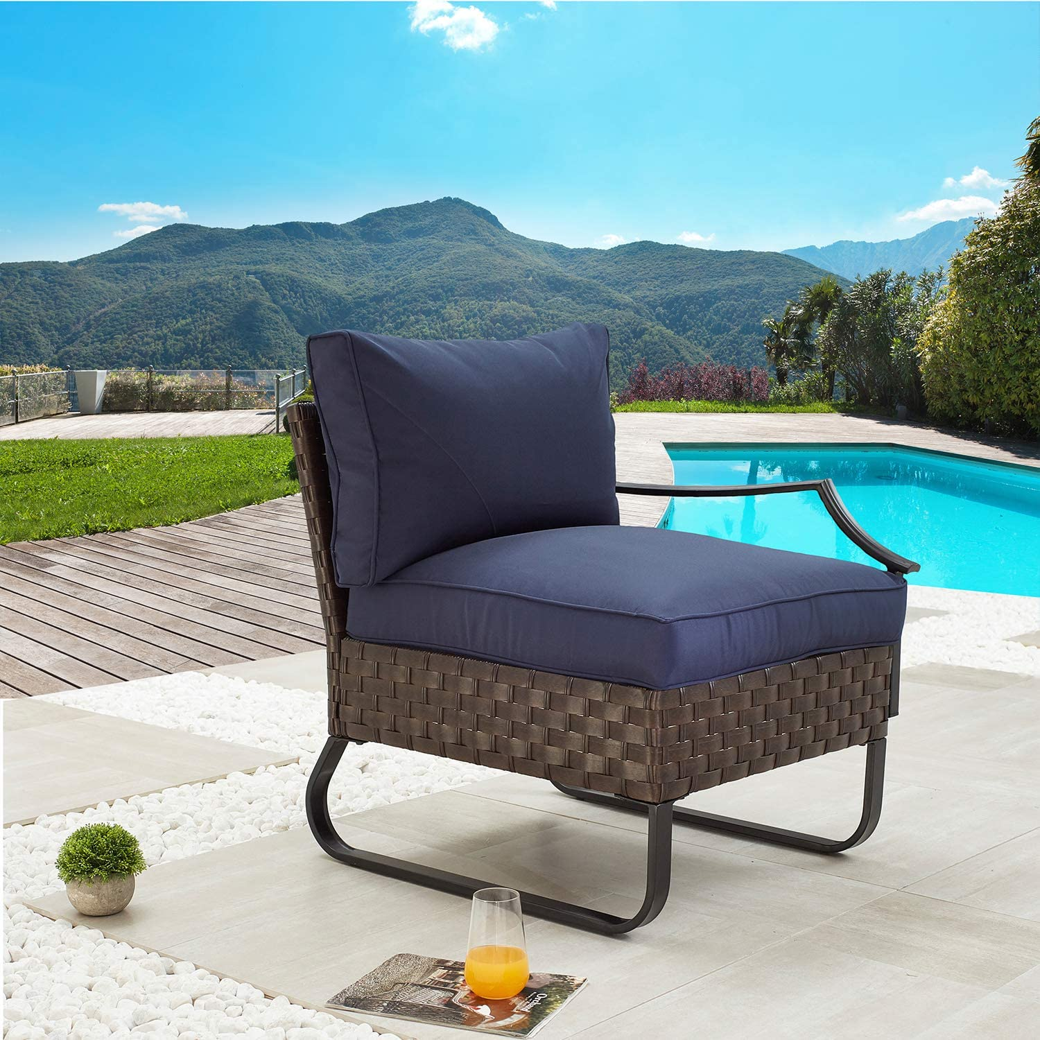 Festival A surprise price is realized Depot Dining Outdoor Patio Left Same day shipping Armres Bistro Furniture