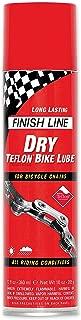 Finish Line DRY Teflon Bicycle Aerosol Spray Chain Lube, 8-Ounce