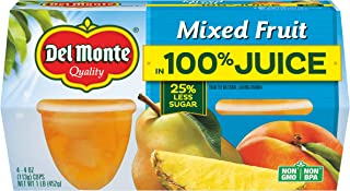 Del Monte Mixed Fruit Snack Cups in 100% Juice, 4-Ounce (Pack of 24)