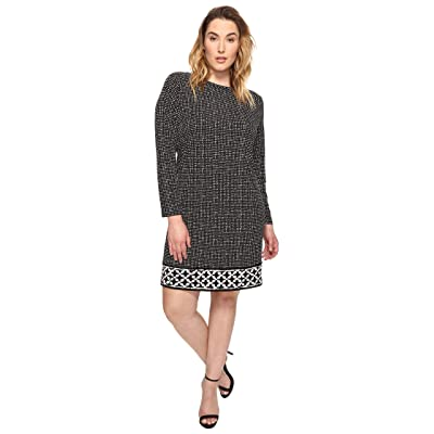 MICHAEL Michael Kors Plus Size Nezla Border Dress (Black) Women
