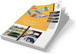 Epoch Paper Printable Vinyl Sticker Paper - 20 Sheets of Glossy White Vinyl Sticker Paper for INKJET PRINTERS