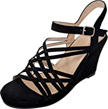 TravelNut Summer Special Milano Elegant Strappy Platform Wedge Sandals Shoes for Women (Assorted Colors)