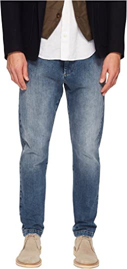 Cotton Stretch Jogger Jeans in Denim