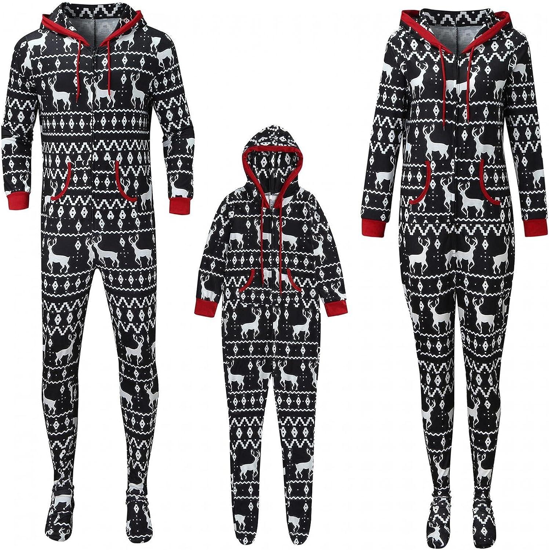 LIEIKIC Christmas Pajamas for Fresno Popular overseas Mall Family Zipper Onesies: M Piece One