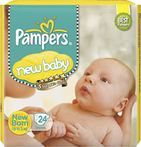 Pampers Active Baby Diapers, New Born, Extra Small, (NB, XS) size, 24 Count, Taped style diaper