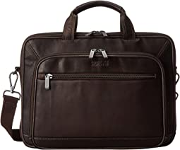 A Golden Op-Port-Unity Colombian Leather Laptop Brief