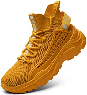 Fushiton Mens Trainers Running Shoes Hi Top Casual Shoes Fashion Sport Sneakers Walking Lightweight Breathable
