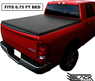 Black Series Premium Soft Trifold Tonneau Pickup Truck Box Cover (Fits 1999-2019 Ford F-250 F-350 Super Duty 6.75 Feet (81.0 Inches / 2.1 Metres) Bed Box Size - Non-Flareside Models)