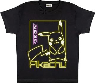 Popgear Pokemon Pikachu Neon Boys T-Shirt Black jongens T-Shirt