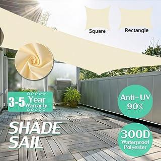 Kookaburra Tenda a Vela Triangolo rettangolo 6,0m x 4,2m per Feste Resistente allAcqua Protezione Anti Raggi 96.5/% UV per Ombreggiare Il Giardino Terrazzo o Balcone Verde