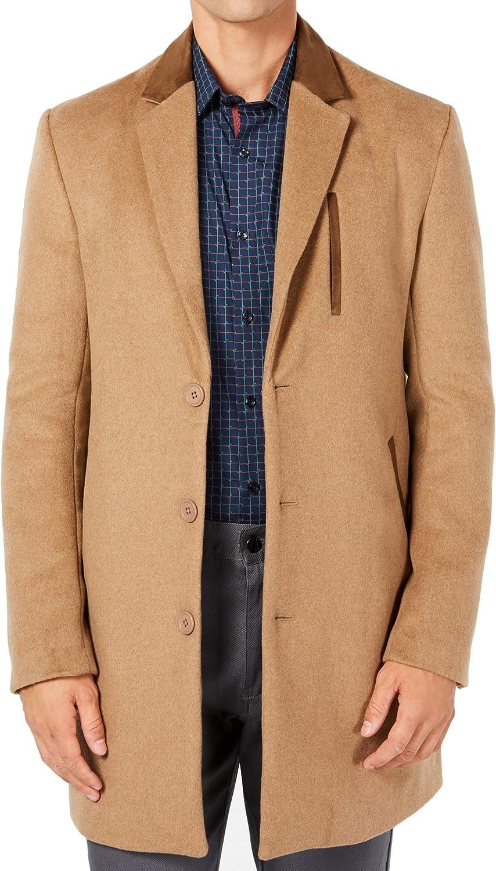Ryan Seacrest Mens Solid Overcoat Dress