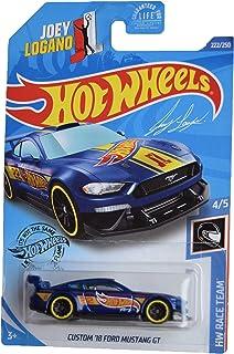 DieCast Hotwheels Custom '18 Ford Mustang GT, Race Team 4/5 [Blue]