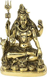 The Himalayan Collections Metal Lord Shiva Idol, 7 cm, Gold
