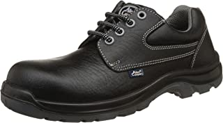 Allen Cooper AC-1265 Shock Resistant Safety Shoe, FRP Toe Cap for 200 Joules, Black, Size 8