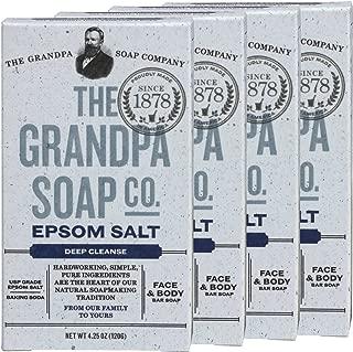 Grandpa's Epsom Salt Soap 4.25 Ounces (Pack of 4)