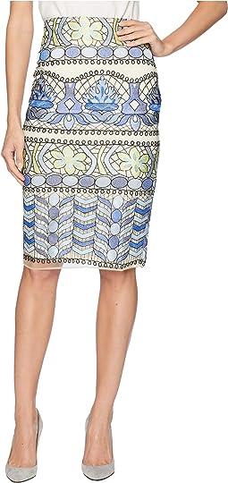 Floral Print Obsessed Midi Skirt