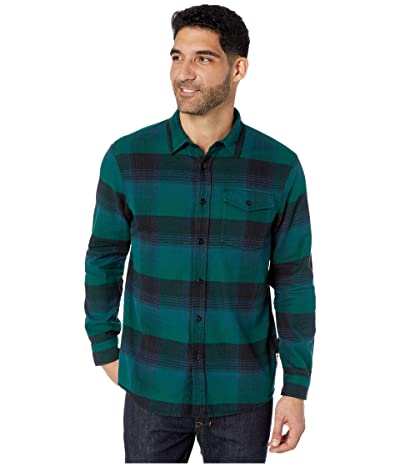 The North Face Long Sleeve Stayside Chamois Shirt (Night Green Stayin Plaid) Men
