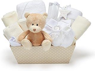 Juego de cesta de regalo para baby shower con forro polar,