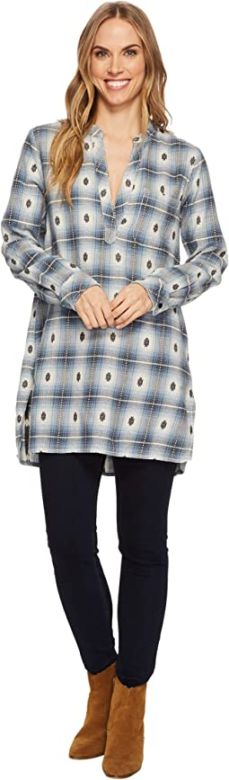 Dylan by True Grit - Jessie Tunic Flannel Plaid 100% Yarn-Dye