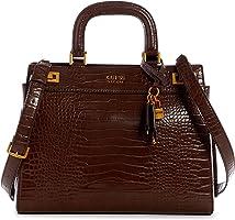 Guess, Katey Large Luxury Satchel para Mujer, marrón, Talla única