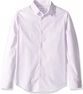 Boys' Long Sleeve Plaid Button-down Dress Shirt