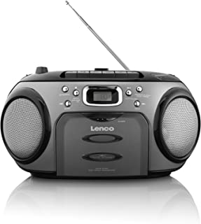 Lenco SCR-97 CD Player / MP3 / LCD Display/FM Radio/with Cassette Player/Silver