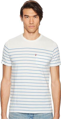 Levi's® Premium - Premium Stripe Sunset Pocket T-Shirt