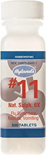 Cold and Flu Medicine, Nausea Relief, Homeopathic Treatment, Hyland's Cell Salts #11 Natrum Sulphuricum 6X Tablets, 500 Count