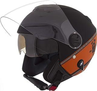 Pro Tork Capacete New Atomic Skull RideRosa Hd Fosco 56 Preto/Laranja