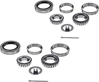[2 Sets] 3500lbs Trailer Axle Bearing Kit L44649/10,  L68149/11 for #84 Spindle, 1.719'', 10-19 Seal