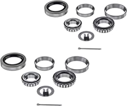 [2 Sets] 3500lbs Trailer Axle Bearing Kit L44649/10, L68149/11 for #84 Spindle,1.719'',10-19 Seal