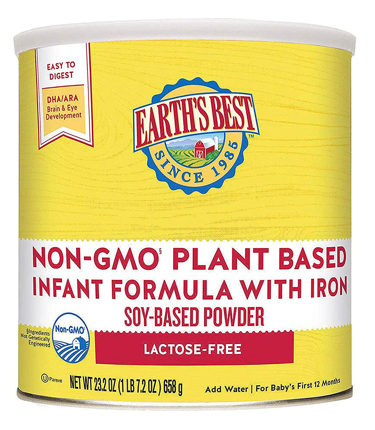 Earth's Best Non-GMO Soy 55% Max 49% OFF OFF Plant Formula Based with Powder Infant