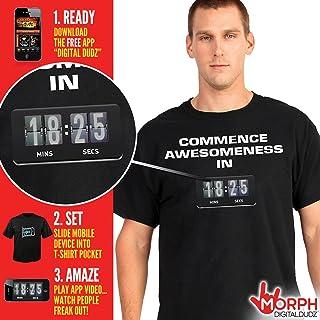 MorphCostumes Digital Dudz Commence Awsomeness Countdown Digital T-Shirt (Medium, Black)