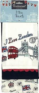 Cooksmart England - London Icons Set of 3 Tea Towels