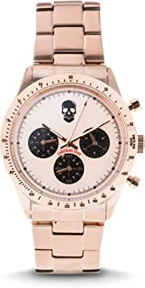 Zvm127 Master - Rose Gold Stainless Steel Bracelet Watch Watch For Unisex 1 Pc