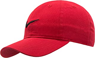 Kids' Little Classic Twill Basball Hat, Black/Gym Red, 4/7