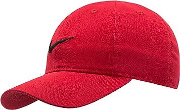 Nike Kids' Little Classic Twill Basball Hat, Black/Gym Red, 4/7