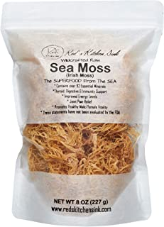 Sea Moss/Irish Moss - Wildcrafted - 100% Natural, Raw, Vegan, Imported from St. Lucia - Salt Free, Sand Free and Dry | Dr....