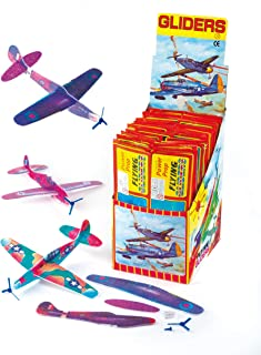 Baker Ross Power Prop Flying Gliders (Pack of 6) Easy Assembly Airplane Toy Glider Planes for Kids Toys, Birthday Party, School Classroom Rewards or Carnival Prizes