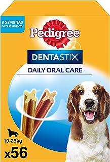 Pedigree Pack de Dentastix de uso Diario para la Limpieza Dental de Perros Medianos (56ud)