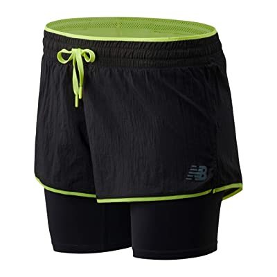 New Balance Q Speed Breathe 2-in-1 Shorts (Phantom/Lemon Slush) Women