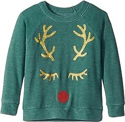 Extra Soft Reindeer Face Pullover Sweater (Toddler/Little Kids)