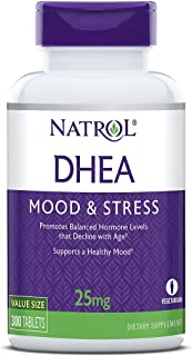 Natrol DHEA Tablets, Promotes Balanced Hormone Levels, Supports a Healthy Mood, Supports Overall Health, Helps Promote Hea...