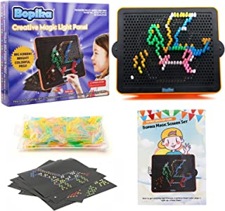 Creative Light Up Board for Kids Magic Light Screen Educational Learning Toys Bonus Set with 360 Pegs and 10 templates Gif...