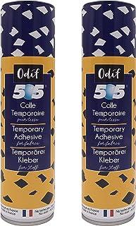 Odif - Lot de 2 505 - Colle temporaire pour Tissu en Spray - 250ml