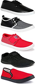 Shoefly Sports Running Shoes/Casual/Sneakers/Loafers Shoes for MenMulticolors (Combo-(5)-1219-1221-1140-748-753)