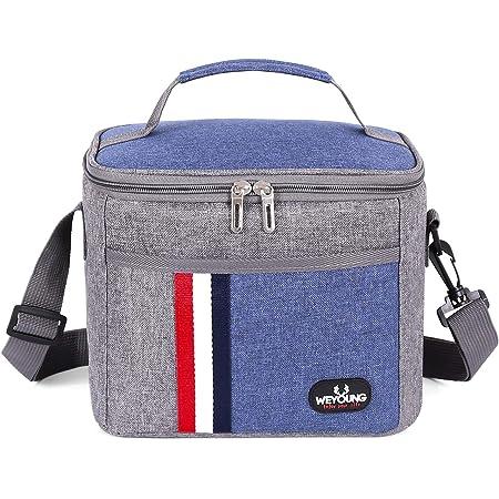 Grande sac à repas isotherme et étanche - Unisexe - Pour adulte, enfant Décontracté, travail scolaire. L bleu