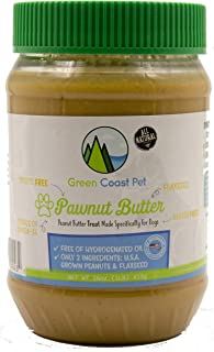 Green Coast Pet All Natural Pawnut Butter For Dogs, 16 Ounce Jar
