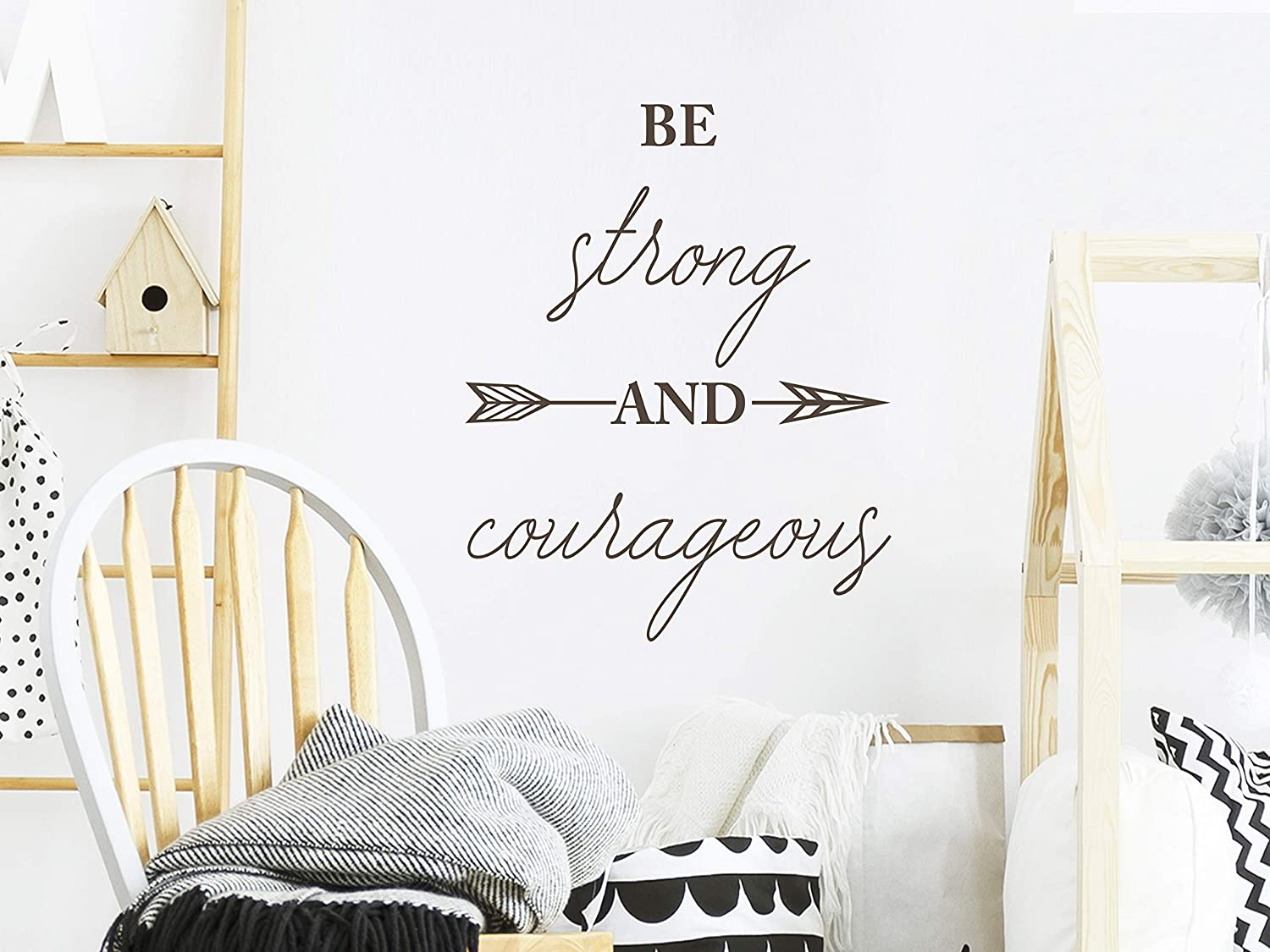 Amazon Com Story Of Home Llc Be Strong And Courageous Wall Decal Joshua 1 9 Bible Verse Religious Scripture Vinyl Kitchen