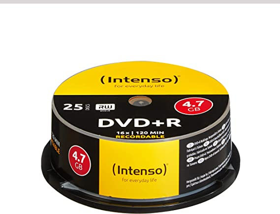 Intenso Dvd R Blank Discs 4 7 Gb 1x 16x 25 Spindle Cake Computers Accessories